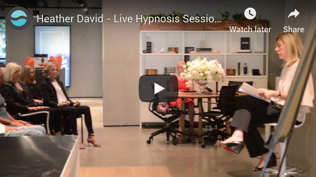 Heather David - Live Hypnosis Session - Talks With Purpose Event