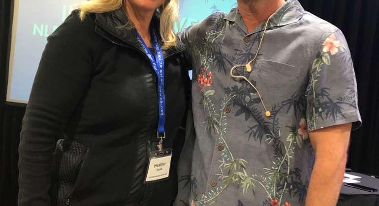 Heather David and Dr. Matt James, Teacher of NLP